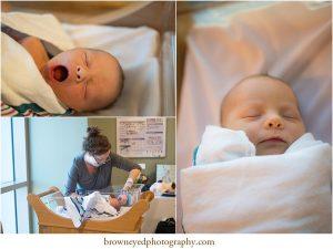 fresh baby yawning